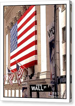 New York Stock Exchange Canvas Print by Linda  Parker