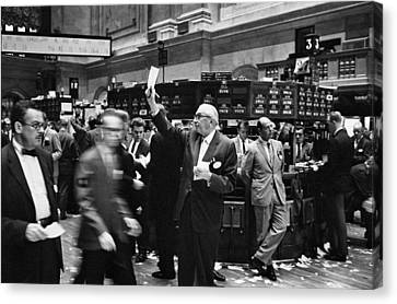 New York Stock Exchange Canvas Print by Underwood Archives