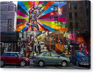 New York Street Scene Canvas Print by Garry Gay