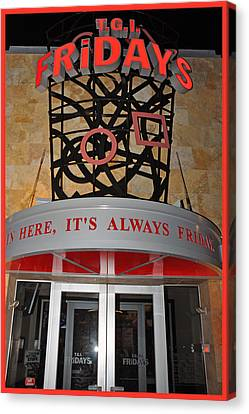 New York Tgi Friday's Canvas Print by Gary Keesler