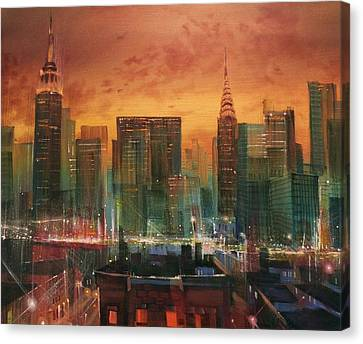 New York The Emerald City Canvas Print by Tom Shropshire
