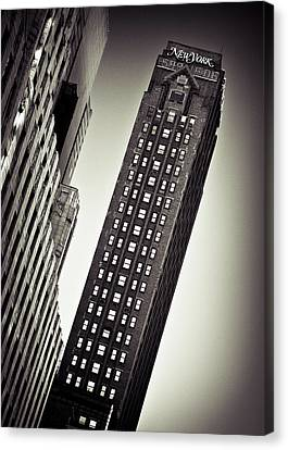 New York Time Canvas Print by Dave Bowman