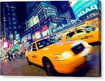 New York - Times Square Canvas Print by Alexander Voss