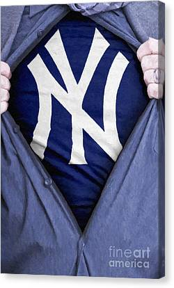 New York Yankees Fan Canvas Print by Antony McAulay