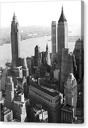 New York's Financial Center Canvas Print by Underwood Archives