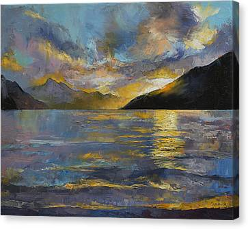 New Zealand Sunset Canvas Print by Michael Creese