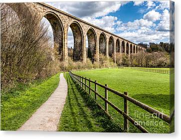 Newbridge Viaduct Canvas Print by Adrian Evans