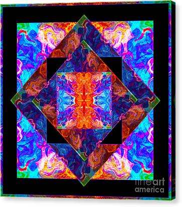 Newly Formed Bliss Mandala Artwork Canvas Print by Omaste Witkowski