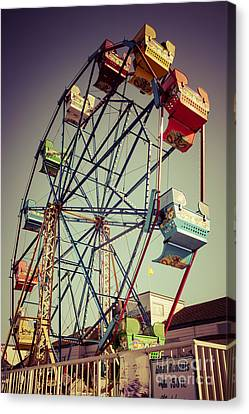 Newport Beach Ferris Wheel In Balboa Fun Zone Photo Canvas Print by Paul Velgos