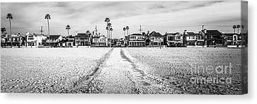 Newport Beach Panorama At 11th Street And Balboa Canvas Print by Paul Velgos