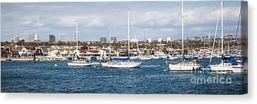 Newport Beach Panorama Canvas Print by Paul Velgos