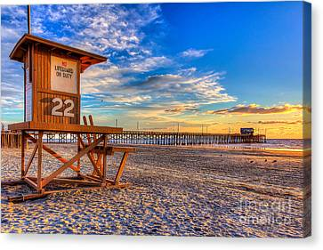 Newport Beach Pier - Wintertime  Canvas Print by Jim Carrell