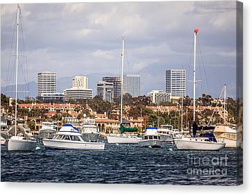 Newport Beach Skyline  Canvas Print by Paul Velgos