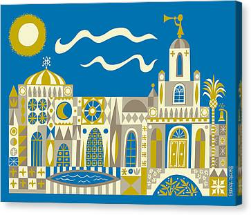 Newport Beach Temple Canvas Print by Parker  Jacobs