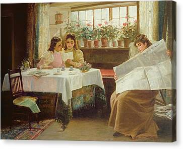 News From The Front Canvas Print by Alexander M Rossi