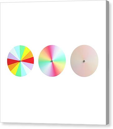 Newton's Disc Experiment Canvas Print by Science Photo Library