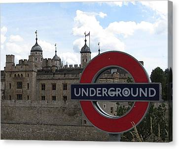Next Stop Tower Of London Canvas Print by Jenny Armitage