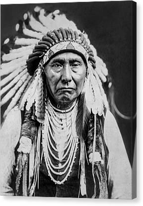 Nez Perce Indian Man Circa 1903 Canvas Print by Aged Pixel