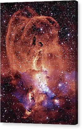 Ngc 3576 Nebula Canvas Print by Nasa