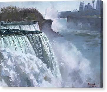 Niagara American Falls Canvas Print by Ylli Haruni