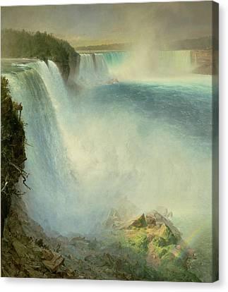 Niagara Falls, From The American Side, 1867 Canvas Print by Frederic Edwin Church