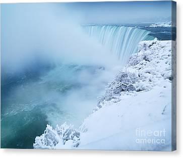 Niagara Falls In Winter Canvas Print by Oleksiy Maksymenko