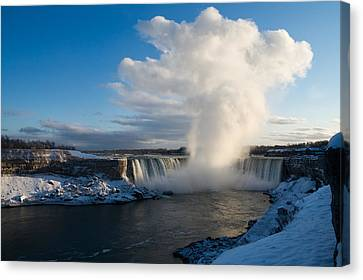 Niagara Falls Makes Its Own Weather Canvas Print by Georgia Mizuleva