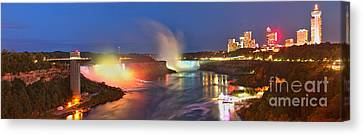 Niagara Falls Ultra Wide Panorama Canvas Print by Adam Jewell