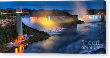 Niagara River Panorama Canvas Print by Adam Jewell