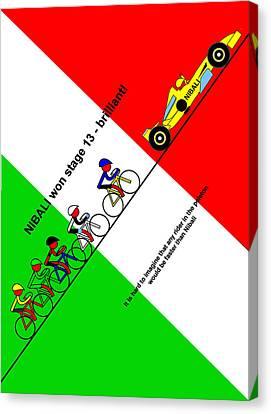 Nibali Won Stage 13  Canvas Print by Asbjorn Lonvig