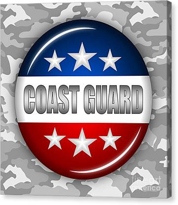 Nice Coast Guard Shield 2 Canvas Print by Pamela Johnson