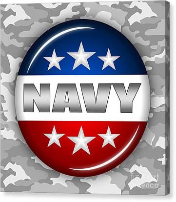 Nice Navy Shield 2 Canvas Print by Pamela Johnson