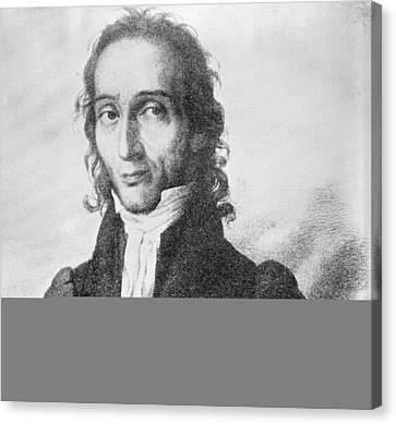 Nicholo Paganini, Italian Violinist Canvas Print by Science Photo Library