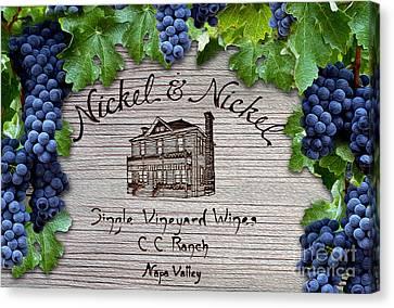 Nickel And Nickel Winery Canvas Print by Jon Neidert
