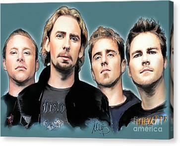 Nickelback Canvas Print by Melanie D