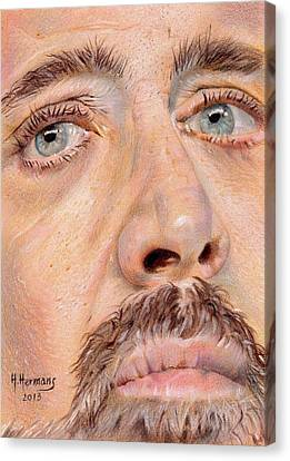 Nicolas Cage Canvas Print by Hendrik Hermans