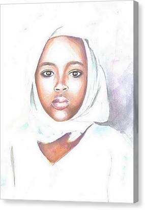 Nigerian Girl Canvas Print by Jovica Kostic