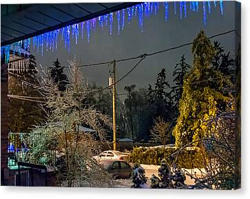Night After The Ice Storm Canvas Print by Steve Harrington
