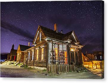 Night At The Cain House Canvas Print by Cat Connor