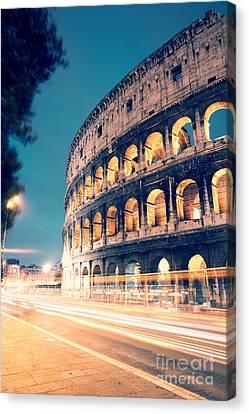 Night At The Colosseum II Canvas Print by Matteo Colombo