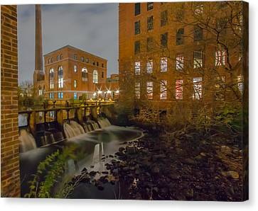 Night At The River Canvas Print by Brian MacLean