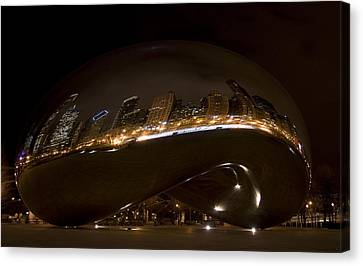 Night Bean Canvas Print by Margaret Guest