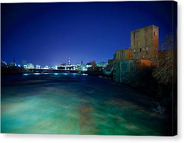 Night Cityscape Canvas Print by Andre Faubert