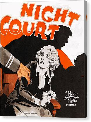 Night Court, Poster Art, 1932 Canvas Print by Everett