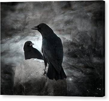 Night Crows Canvas Print by Gothicolors Donna Snyder