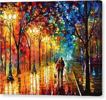 Night Fantasy Canvas Print by Leonid Afremov