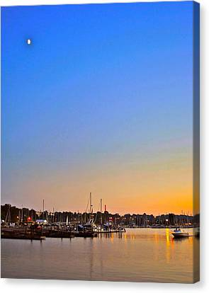 Night Fishing Canvas Print by Frozen in Time Fine Art Photography
