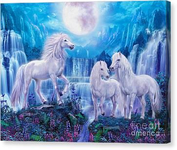 Night Horses Canvas Print by Jan Patrik Krasny