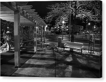 Night In Santa Fe Canvas Print by Dave Dilli