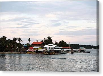 Night Is Coming At Bocas Canvas Print by John Rizzuto